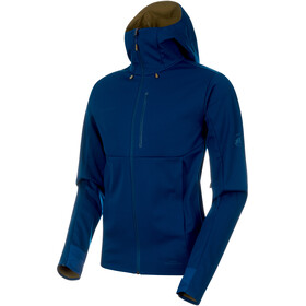 Mammut Ultimate V SO Hooded Jacket Men poseidon-olive melange